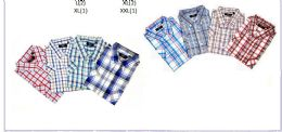 48 Bulk Men's Fashion Plaid Button Downs