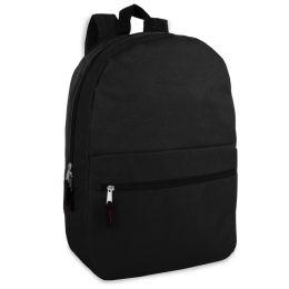 24 Bulk 17 Inch Black Backpack