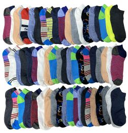 2400 Bulk Assorted Pack Of Womens Low Cut Printed Ankle Socks Many Prints Assorted Mega Deal