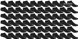 240 Bulk Yacht & Smith Kids Light Weight No Show Breathable Ankle Socks Solid Black