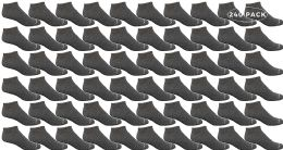 240 Bulk Yacht & Smith Kids Light Weight No Show Breathable Ankle Socks Solid Gray