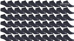 240 Bulk Yacht & Smith Kids Light Weight No Show Breathable Ankle Socks Solid Navy