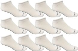 12 Bulk Yacht & Smith Kids Light Weight No Show Breathable Ankle Socks Solid White