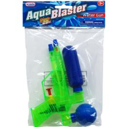 "48 Bulk 6.75"" Water Gun In Poly Bag W/ Header, 3 Assrt Clrs"