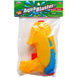 "48 Bulk 6.75"" Water Gun In Poly Bag W/ Header, 2 Assrt Clrs"