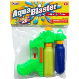 "48 Bulk 6"" 2-Tank Mini Water Gun In Poly Bag W/header, 3 Assrt"
