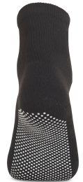 120 Bulk Yacht & Smith Womens Loose Fit Gripper Bottom Diabetic NoN-Skid Slipper Black Socks, Grippy Hospital Sock, Size 9-11
