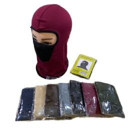 48 Bulk Ninja Face Mask Solid With Mesh Front