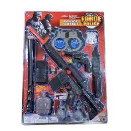 12 Bulk Ten Piece Swat Force Police Playset