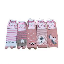 144 Bulk Ladies Teens Thin Casual Ankle Sock Cute Animal
