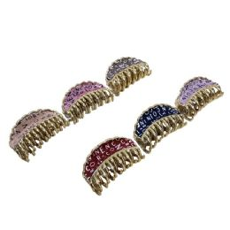 72 Bulk Claw Clip With Letters Metallic Sparkle