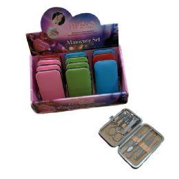 36 Bulk 9 Piece Manicure Set Solid Color