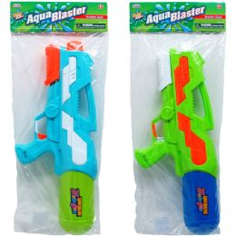 "12 Bulk 18.5"" Water Gun W/ Pump Actn In Poly Bag W/header, 2 Asst"