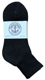 240 Bulk Yacht & Smith Women's Cotton Ankle Socks Black Size 9-11 Bulk Pack