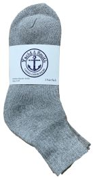240 Bulk Yacht & Smith Women's Cotton Ankle Socks Gray Size 9-11 Bulk Pack