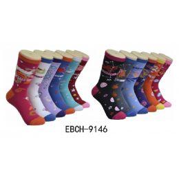360 Bulk Ladies Zodiac Crew Socks Size 9-11