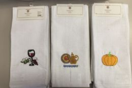 36 Bulk Embroidery Kitchen Towel Set Of 3 Assorted