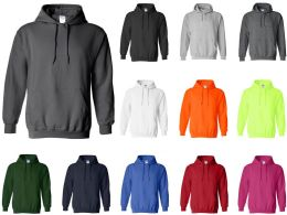 24 Bulk Gildan Adult Hoodies Size Large