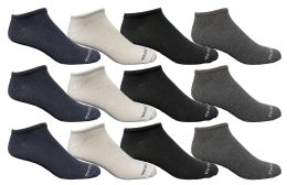 12 Bulk Yacht & Smith Men's Light Weight Breathable No Show Loafer Ankle Socks Solid Assorted 4 Colors