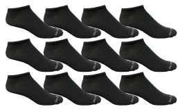 12 Bulk Yacht & Smith Men's Light Weight Breathable No Show Loafer Ankle Socks Solid Black