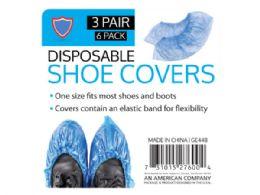 72 Bulk 6 Pack Shoe Covers (3 Pairs)