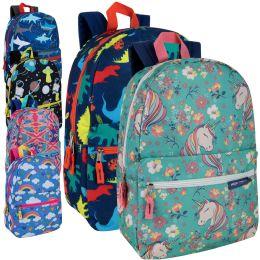 24 Bulk 17 Inch Backpacks Mix Girls And Boys Prints