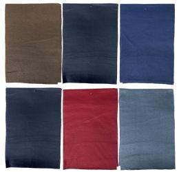 6 Bulk Yacht & Smith Warm Fleece Knit Winter Neck Scarfs, Unisex Assorted Colors