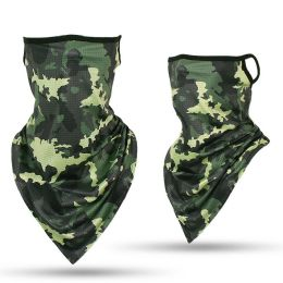 24 Bulk Camouflage Print Triangle Face Shield