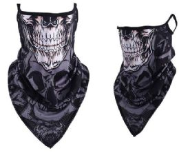 24 Bulk Skull Style Face Covering With Earloops Non Medical