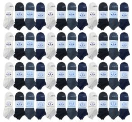 48 Bulk Yacht & Smith Low Cut Socks Thin Comfortable Lightweight Breathable No Show Sports Ankle Socks, Solid Assorted Colors