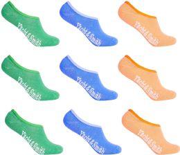 12 Bulk Women's Mesh No Show/silicone No Slip Loafer Sock Liner (pastel)