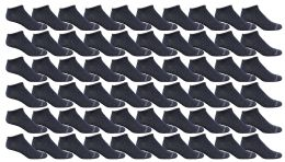 240 Bulk Yacht & Smith Women's Poly Blend Light Weight No Show Loafer Ankle Socks Solid Navy