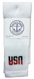 240 Bulk Yacht & Smith Women's Cotton Tube Socks, Referee Style, Size 9-15 White Usa Bulk Pack