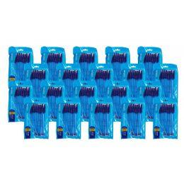 144 Bulk Blue Caliber Stick Ball Point Pens