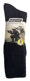 36 Bulk Yacht & Smith Men's Army Socks, Military Grade Socks Size 10-13 Solid Black