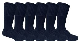 120 Bulk Yacht & Smith Men's Army Socks, Military Grade Socks Size 10-13 Solid Black Bulk Buy