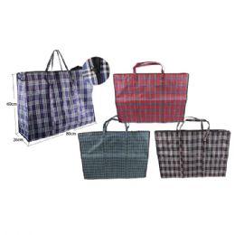 96 Bulk Woven Bag Plaid