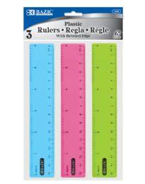 """240 Bulk 6"""" (15cm) Plastic Ruler (3/pack)"""