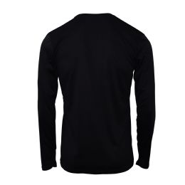 60 Bulk Mens Base Layer Crew Neck Long Sleeve Shirt In Black