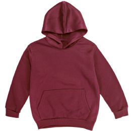 12 Bulk Boys Long Sleeve Sherpa Lined Hoody Sweater In Wine Color