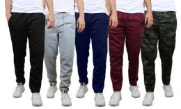 48 Bulk Mens Classic Open Bottom Fleece Sweatpants Assorted Sizes And Colors