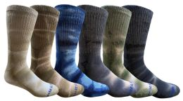36 Bulk Yacht & Smith Mens Ring Spun Cotton Tie Dye Crew Socks Size 10-13 Super Soft Arch Support