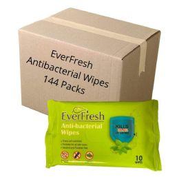 144 Bulk Wipes - EverFresh Anti-Bacterial Wipes