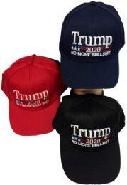 24 Bulk Wholesale Trump 2020 Baseball cap No More Bullshit