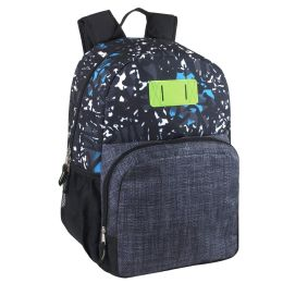 24 Bulk 17 Inch Graffiti Backpack With Side Pockets