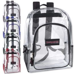 24 Bulk Trailmaker Deluxe 17 Inch Clear Backpack