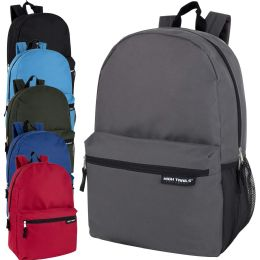 24 Bulk High Trails 19 Inch Backpack With Side Mesh Pocket