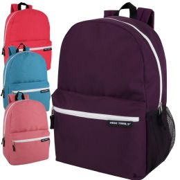 24 Bulk High Trails 19 Inch Backpack With Side Mesh Pocket Girls