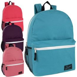 24 Bulk Trailmaker 18 Inch Backpack With Side Pocket Girls