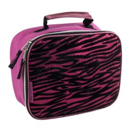 24 Bulk Fridge Pack Pink Zebra Print Lunch Bag